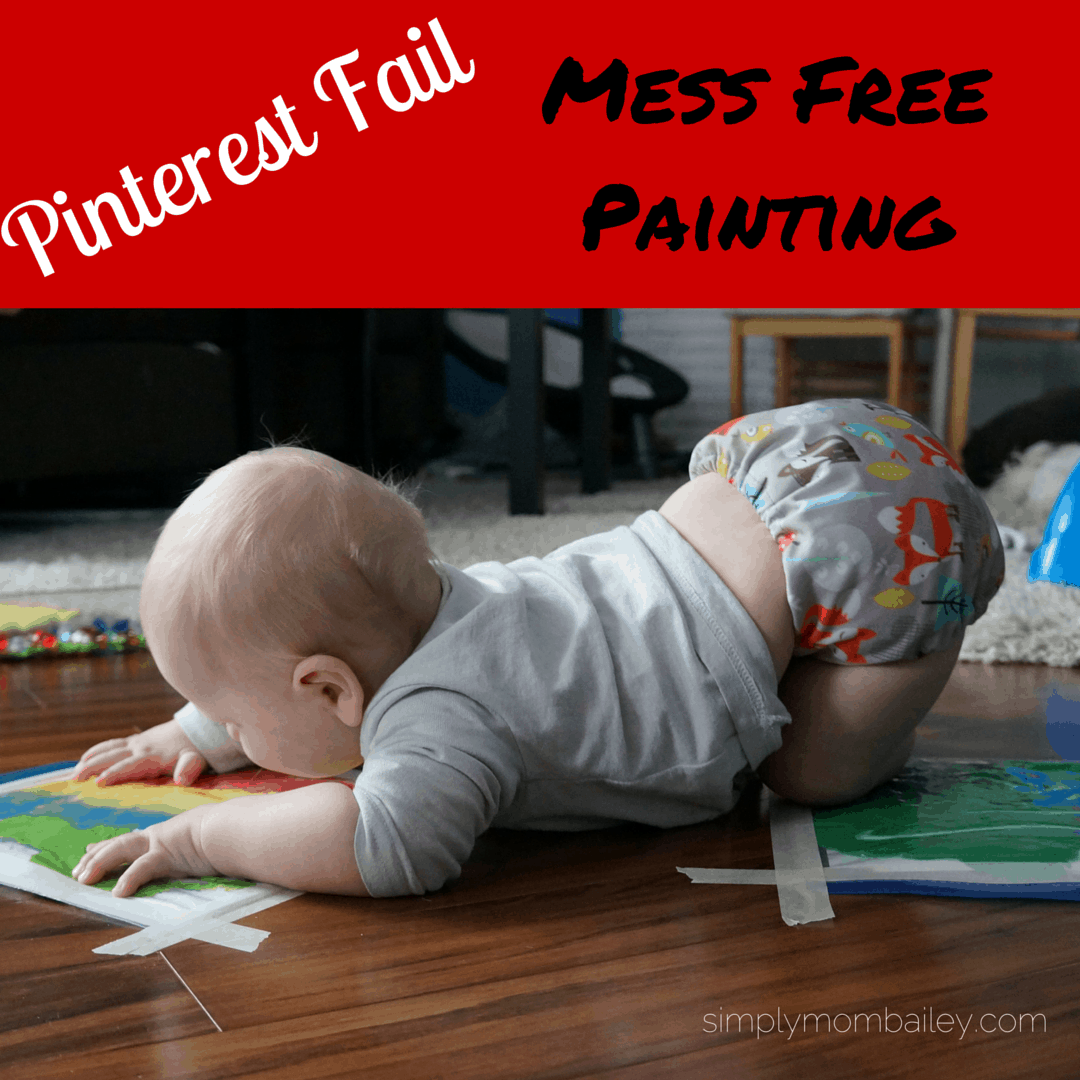 baby play diy mess free painting