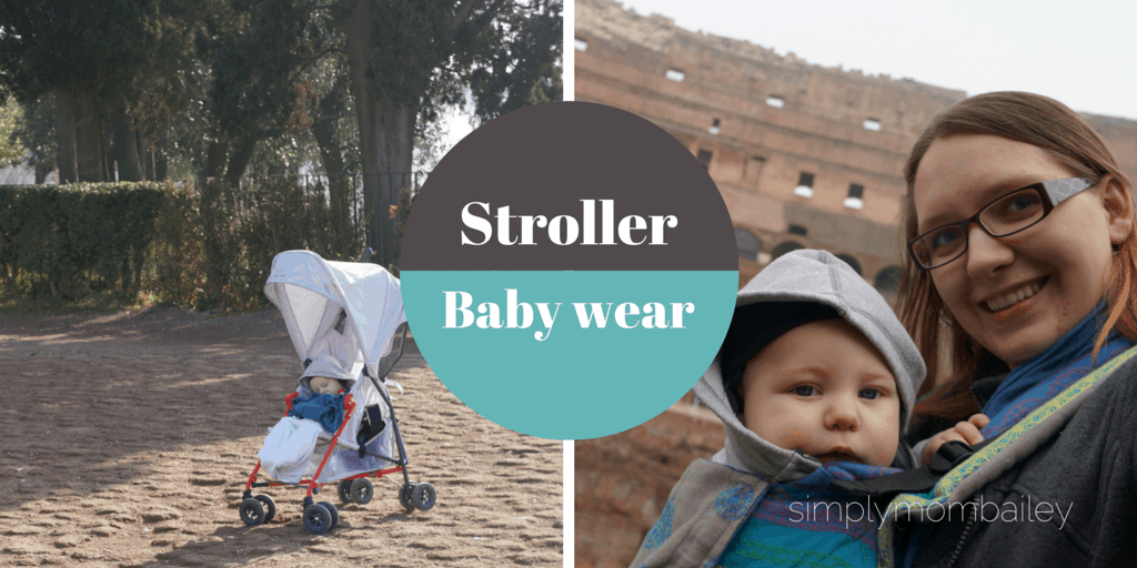 stroller at the forum or baby wearing at the colosseum