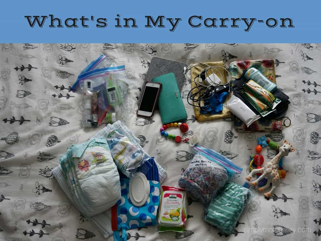 what is in my carry on diaper bag