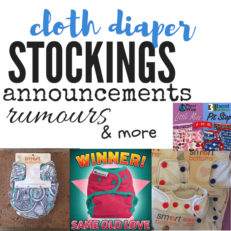Cloth Diaper Round Up April 10-16, 2016