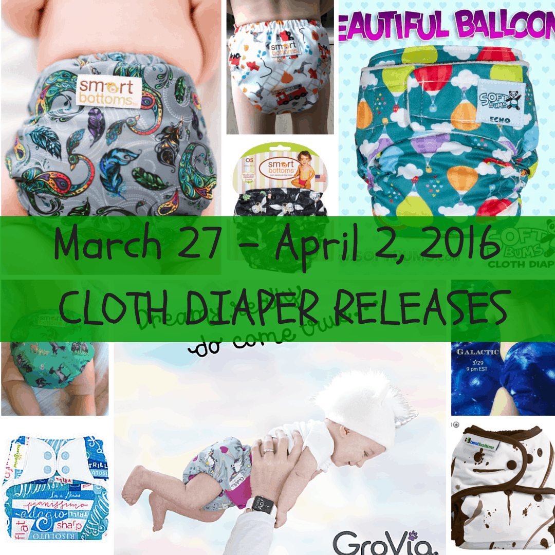 Weekly Cloth Diaper Release Round-Up, March 27 – April 2
