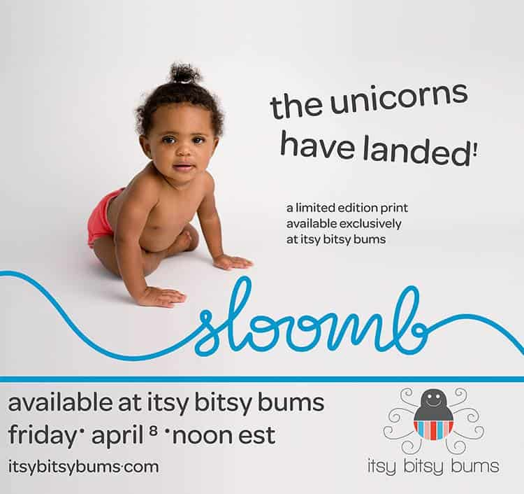 Sloomb Unicorn Exclusive Itsy Bitsy Bums