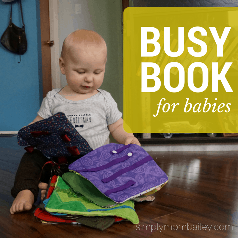 DIY Busy Book for Babies (6-12 Months)