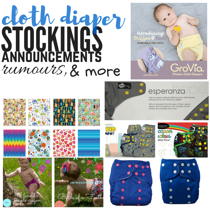 Cloth Diaper Releases, May 14, 2016