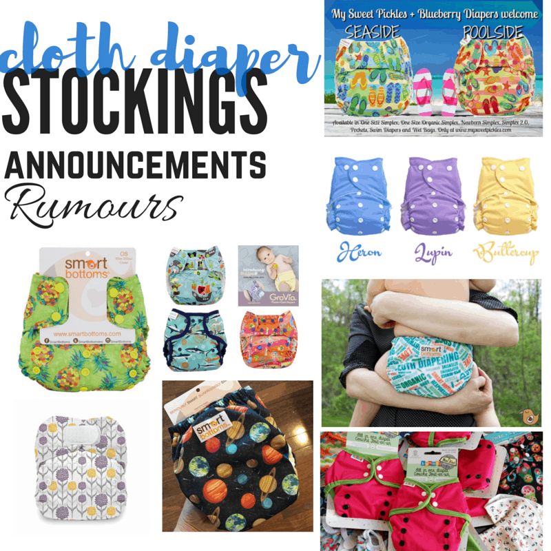 Cloth Diaper Releases, May 28, 2016