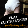 Flat Cloth Diapers for Overnight