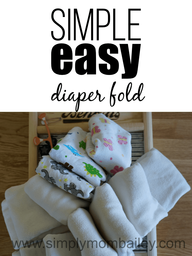 How to Fold a Flat Cloth Diaper Easily #clothdiapers #flatschallenge #ecofriendly