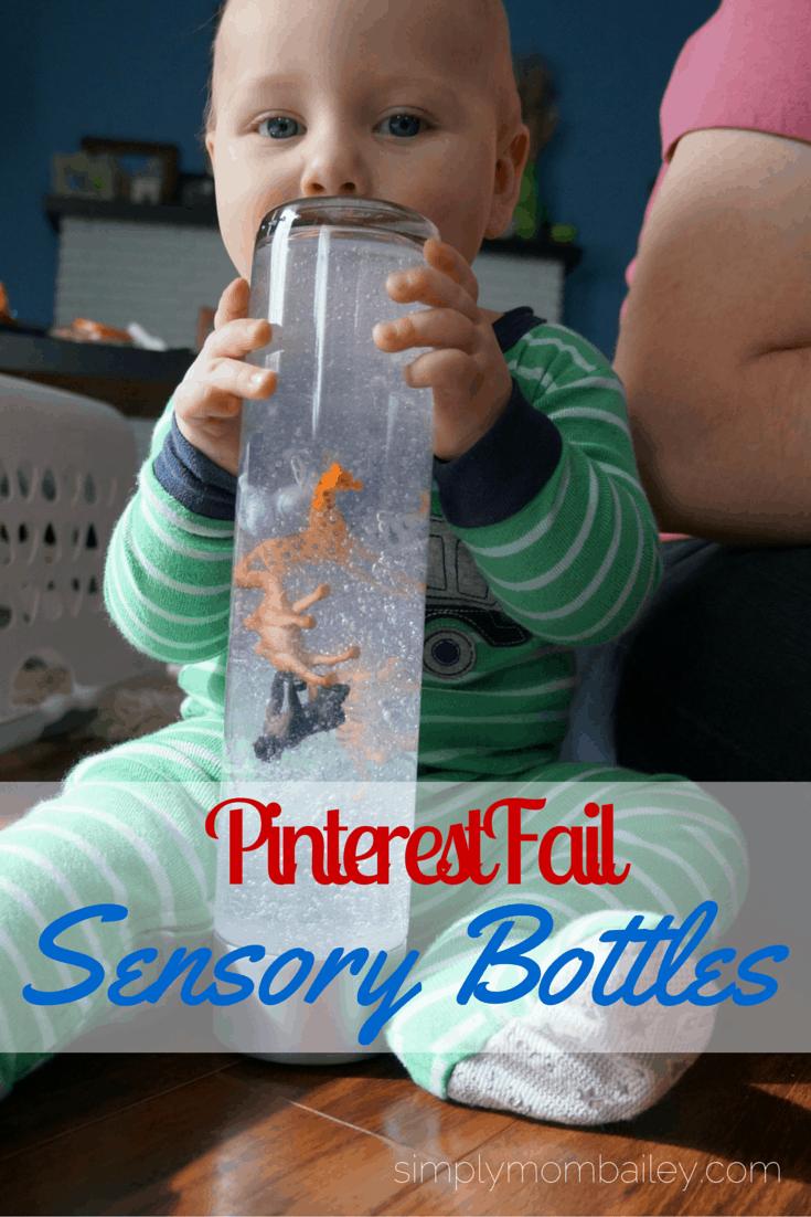 Pinterest Fail: DIY Sensory Bottles
