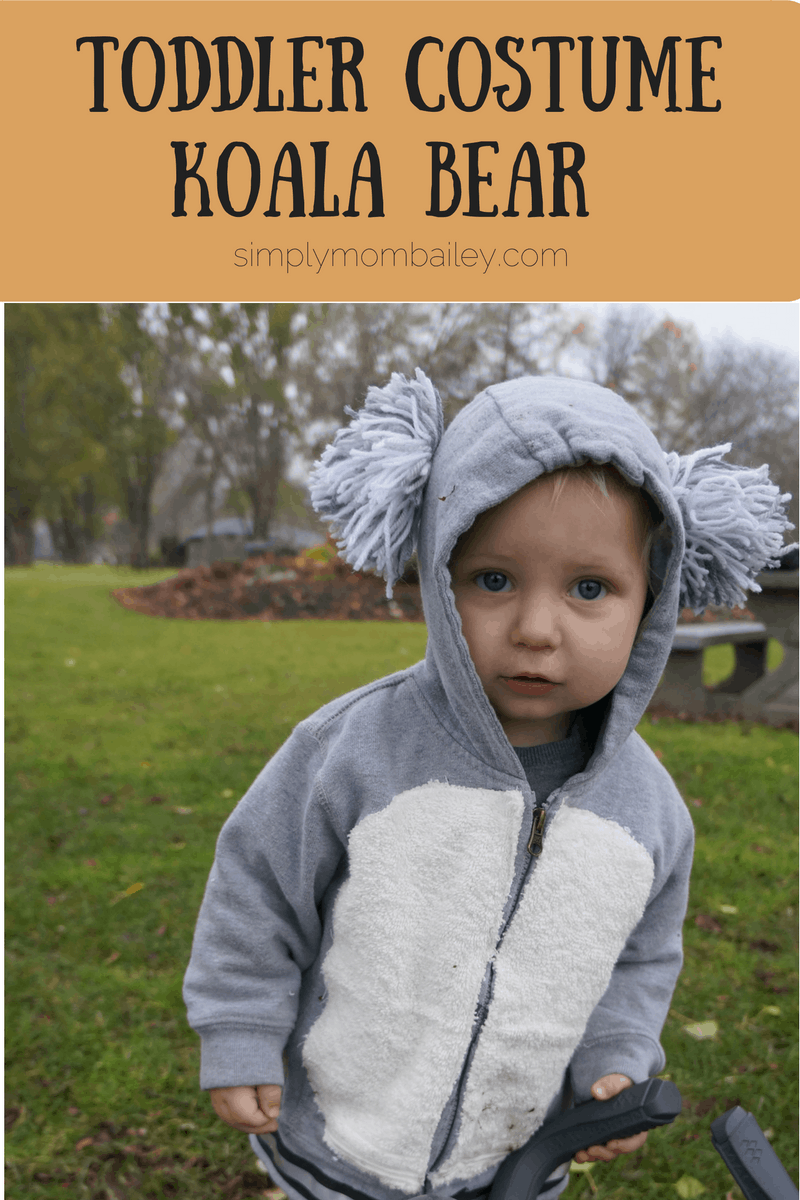 DIY Koala Bear Costume for Toddlers