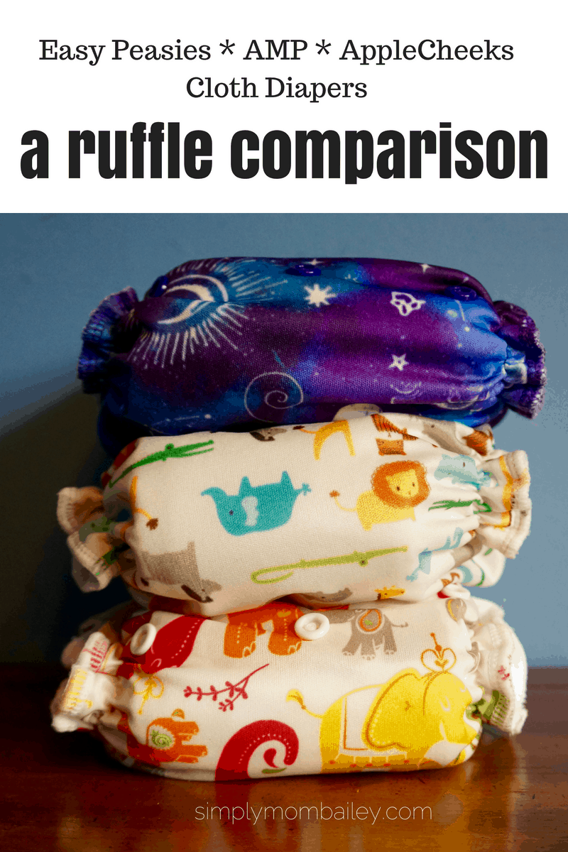 Ruffled OS Pocket Diaper Comparison: Easy Peasies, AMP & AppleCheeks