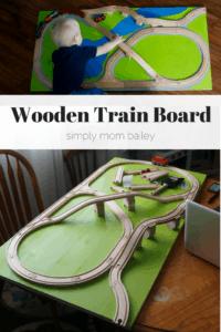 Toddler Wooden Train Board: Screws & Glue