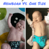 Newborn Versus One Size Funky Fluff Throw Down