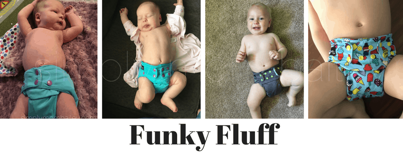 Funky Fluff Newborn to Toddler OS Cloth Diaper