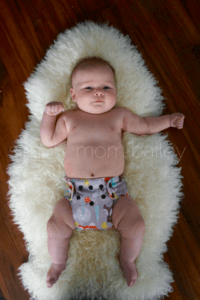 Newborn AIO Cloth Diapers at 12 Pounds blueberry