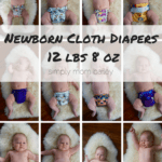 Newborn AIO Cloth Diapers at 12 Pounds