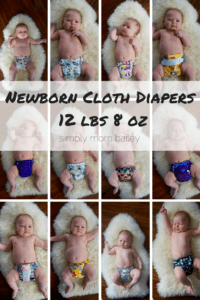 Newborn Cloth Diapers 12 lbs 8 oz