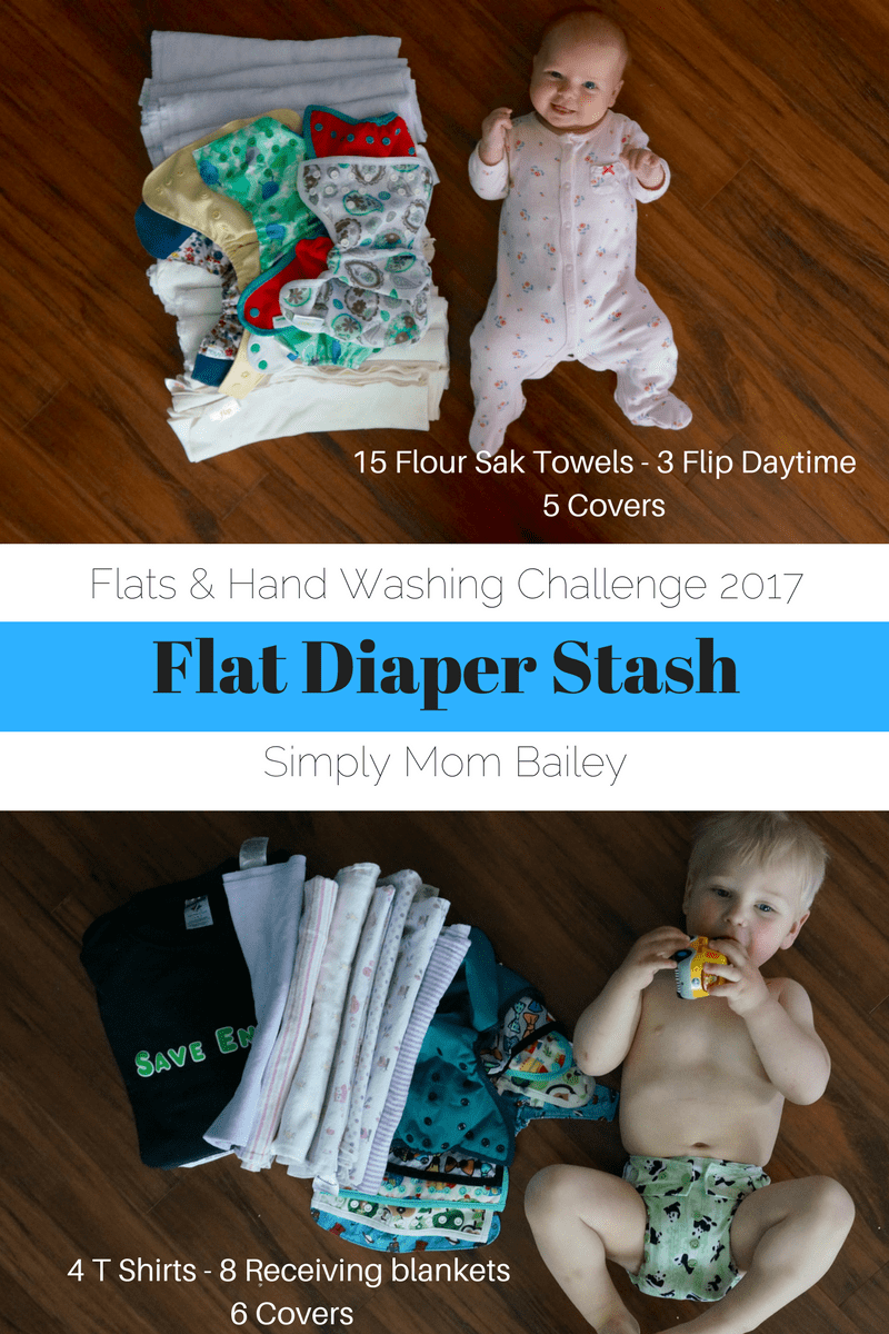 Flats and Hand washing Challenge - Flat Diaper Stash