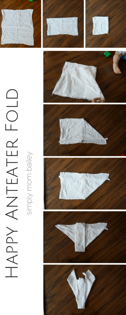 Happy Anteater Fold - Preparing the Flat Diaper Fold