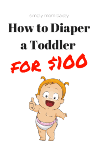 How to Diaper a Toddler for $100