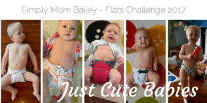 Just Cute Babies in Flat Diapers