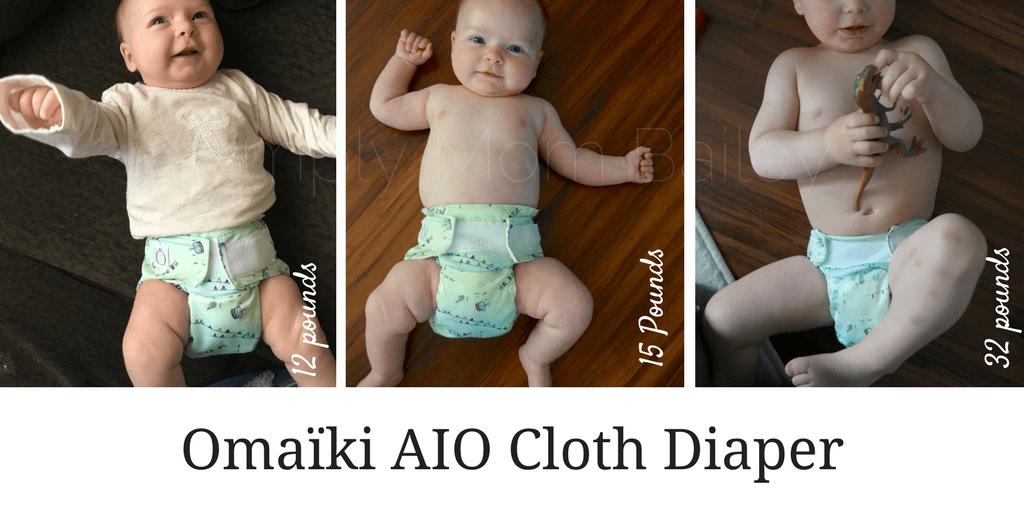 Omaïki AIO Cloth Diaper -Sizing Example