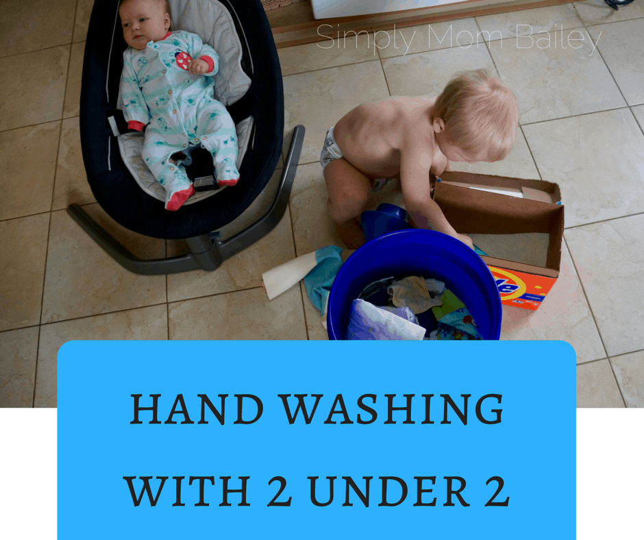 Hand Wash Routine with 2 under 2