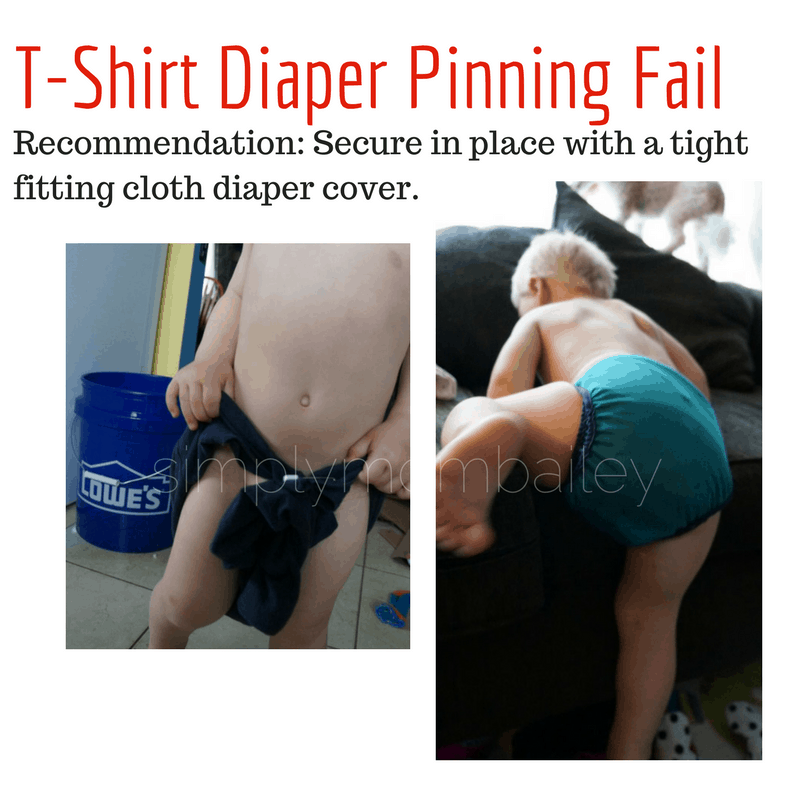 T-shirt Diaper Pinning Fail