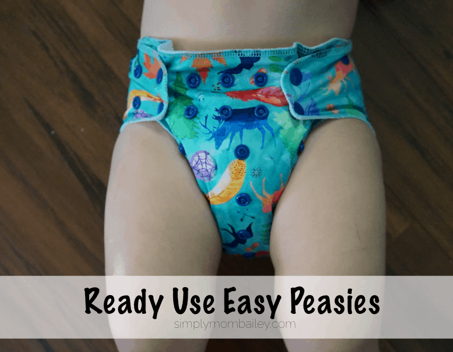 Cloth Diapers at 30 Pounds Easy Peasies Ready Use AIO