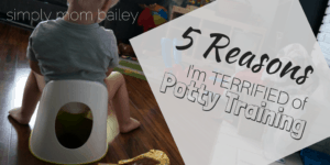 5 Reasons I'm TERRIFIED of Potty Training
