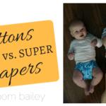 Buttons Diapers Comparison: OS Vs. Super
