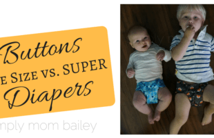 Buttons Diapers Comparison: OS Vs. Super