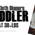 Toddler All-in-one Cloth Diapers at 30 pounds