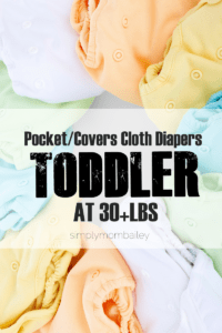 Cloth Diapers on a Toddler Pockets and Cover Cloth Diapers