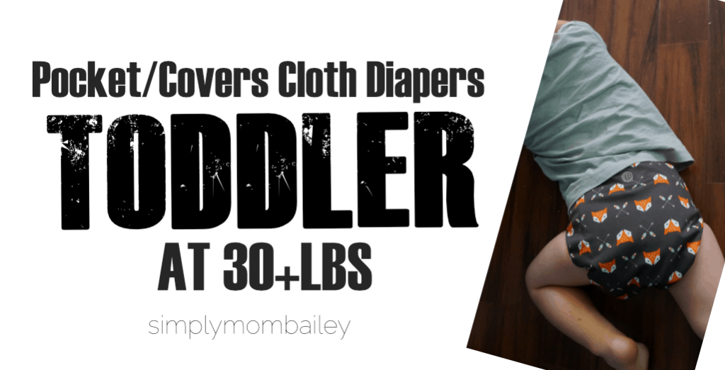 Cloth Diapers on a Toddler Pockets and Covers
