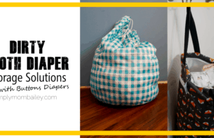 Dirty Diaper Storage Solutions with Buttons Diapers