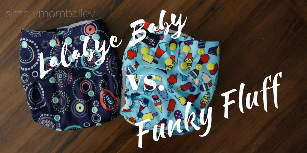 Lalabye Baby versus funky fluff cloth diapers