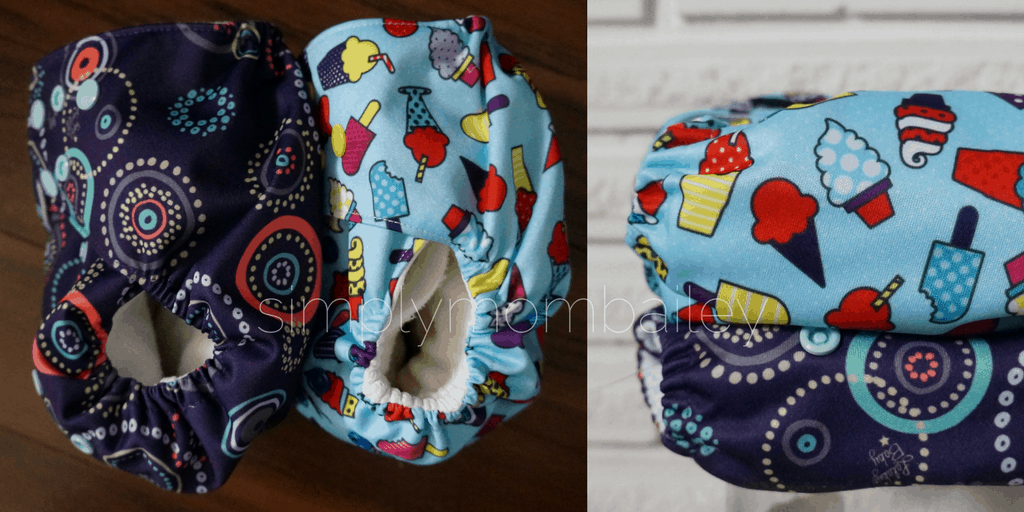 Lalabye Baby versus funky fluff cloth diapers comparison