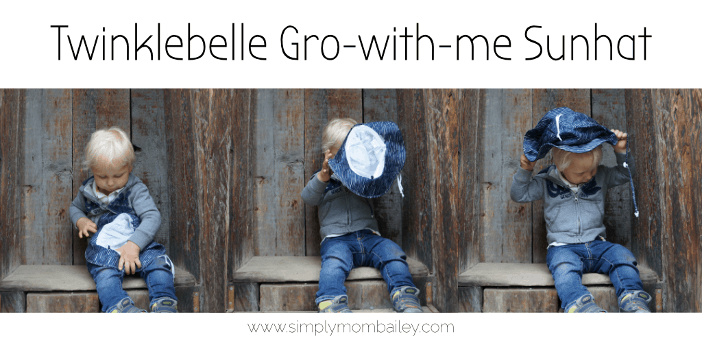 348c789069e How to Keep the Hat On with Toddlers   Twinklebelle Gro-with-me Sunhat  Review - Simply Mom Bailey