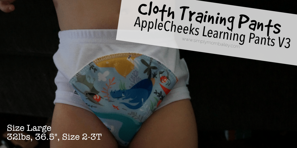AppleCheeks Learning Pants for Potty training - potty learning - trainers - toddler - size large