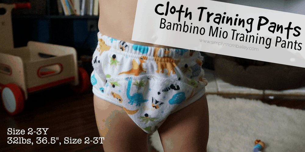 Bambino Mio Training Pants for Potty Training - Cloth Pull Ups - Cloth Diapers - Potty Learning - for Toddlers - Size 2-3 Y