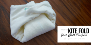 How to Kite Fold Flat Cloth Diapers