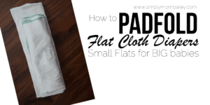 Padfold Flat Cloth Diapers {Small Flats on Big Babies}