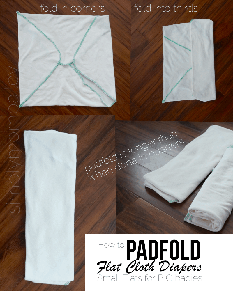 How to Padfold Flat Diapers for Big Babies - How to Padfold Cloth Diapers - Flat Diaper Folds