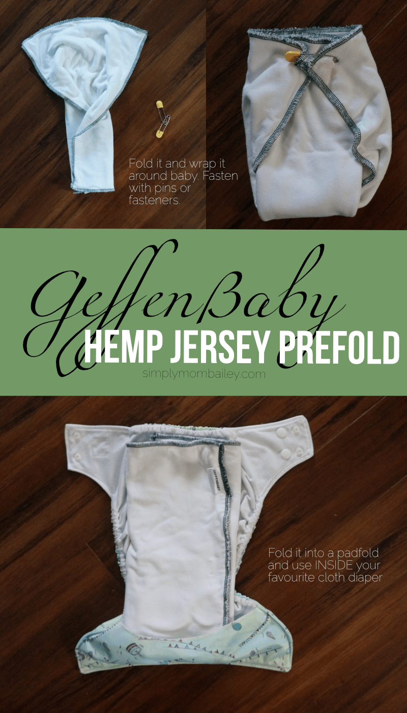 How to use your GeffenBaby Hemp Jersey Prefold with a Cloth DIapers