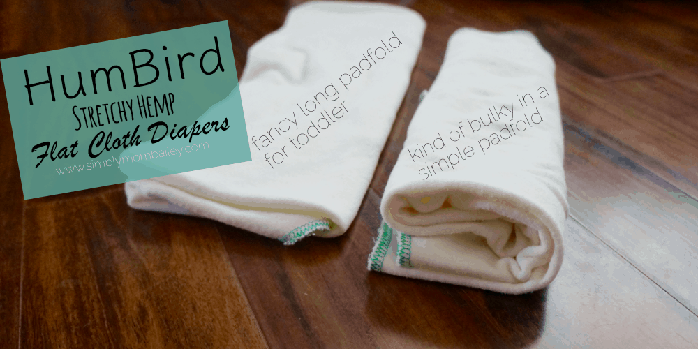 HumBird Flat Cloth Diapers - Padfolded