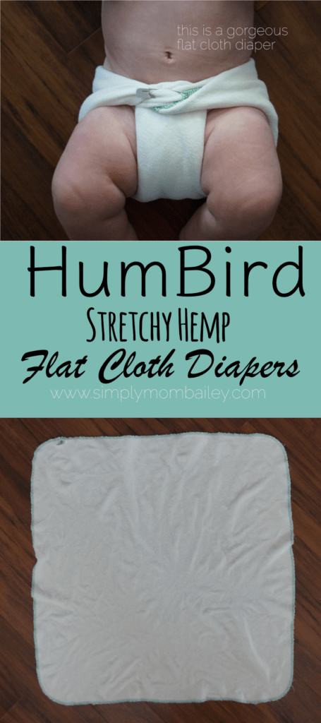 HumBird Flat Cloth Diapers - Stretchy Hemp