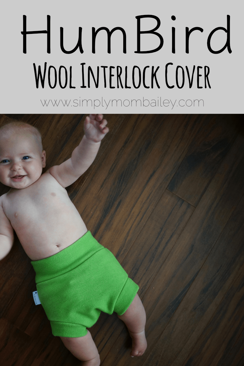 HumBird Interlock Wool Diaper Cover - Wool Interlock Shorts - Wool Pants - WAHM - Cloth Diaper Cover - Green