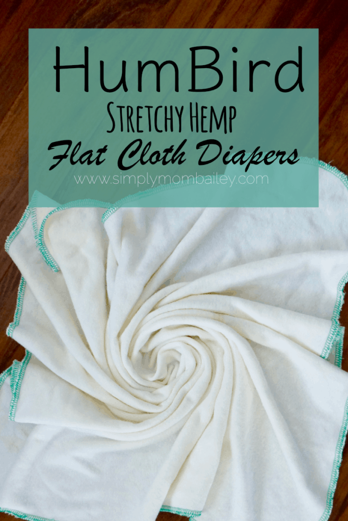 HumBird Stretchy Hemp Flat Cloth Diapers