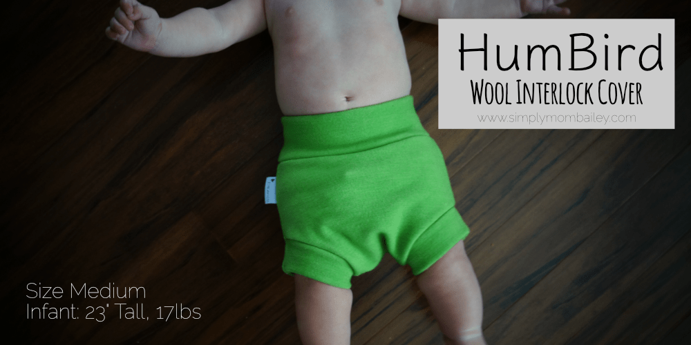 HumBird Wool Cover - Cloth Diaper Cover - Interlock Wool Shorts