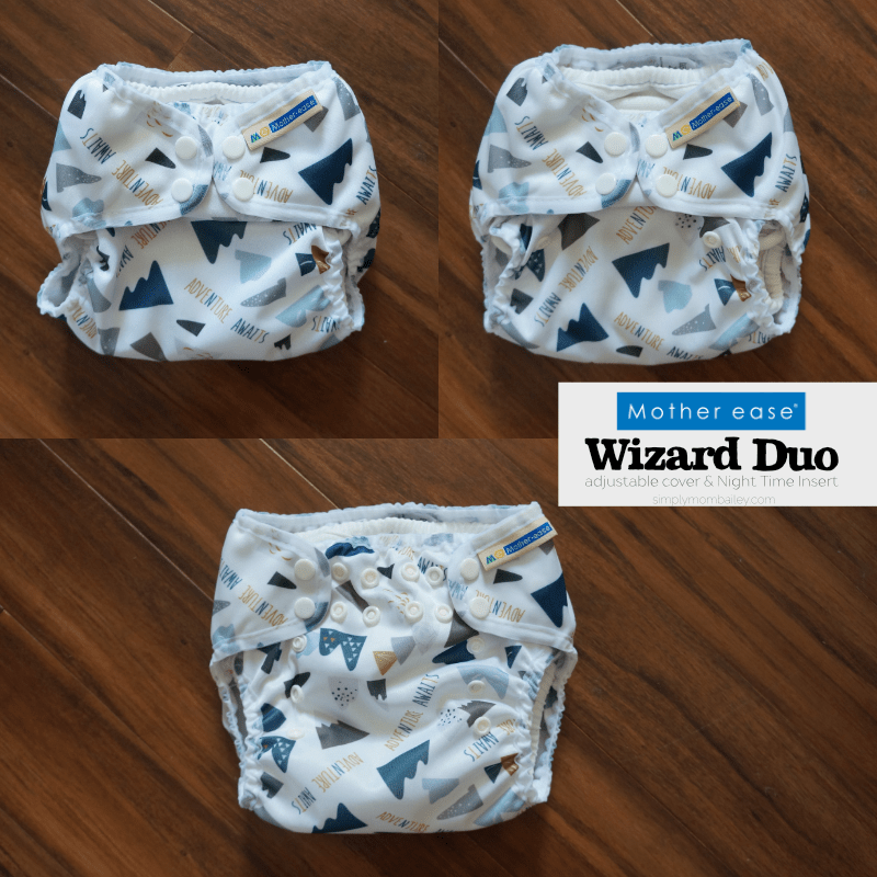 Mother ease sizing of the Wizard Duo Adjustable Cover - Cloth Diaper Cover Made in Canada - One Size Cloth Diaper - OS Cloth Diaper - OS Cover